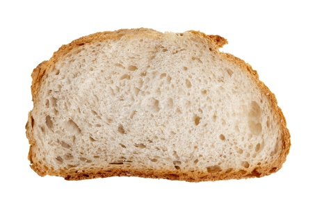 Slice of bread isolated on white background. Stock Photo - 8774473