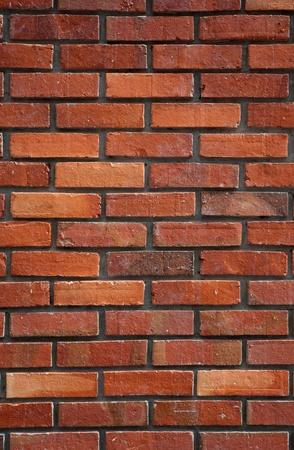 brick clay: Red brick wall background. Stock Photo