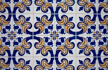 Portuguese glazed tiles photo