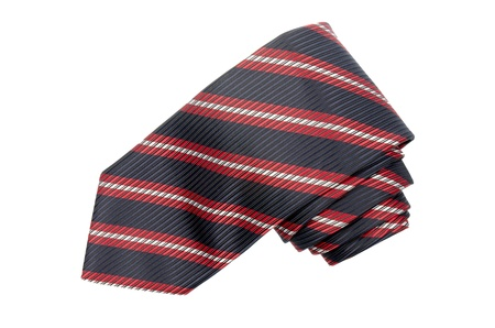 Striped red, white and blue tie isolated on white background. Stock Photo - 9473899