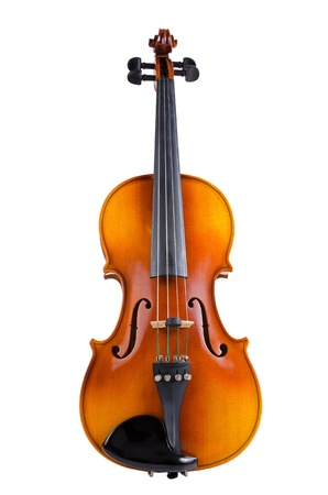 Violin isolated on white background.