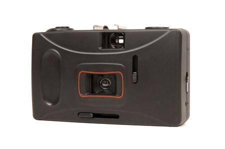 throwaway: Frontside of a disposable camera isolated on white background.
