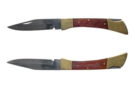 kozik: Penknife isolated on white background.