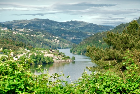 douro: Mountains landscape of Douro Valley, Portugal. Stock Photo