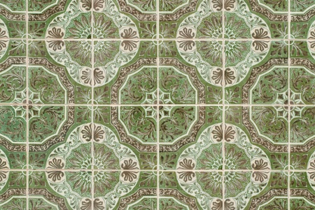 Old tiles detail abstract pattern. photo