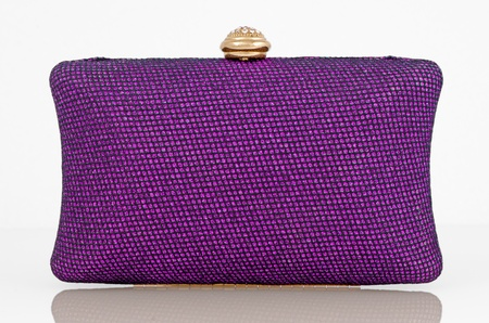 dolly bag: Elegant purple clutch bag. Stock Photo