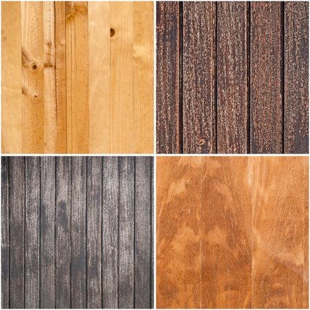Set of four wooden textures, backgrounds. photo