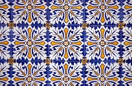 Detail of Portuguese glazed tiles. Фото со стока