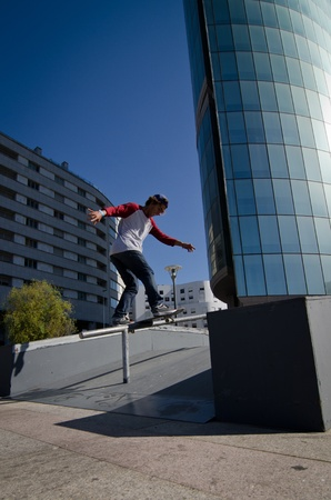 MAIA, PORTUGAL - OCTOBER 08: Diogo Pinto during the Osiris Maia Skate Challenge on October 08, 2011 in Maia, Portugal. Stock Photo - 10808023