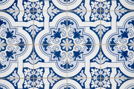 spanish tile: Backgrounds and textures: Intricate ceramic tile design.