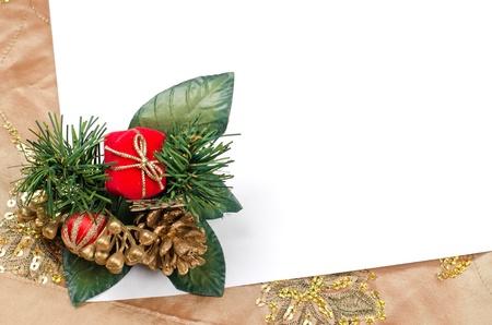 Marco de la Navidad con el espacio libre para sus im�genes o escritura. Foto de archivo - 11325982