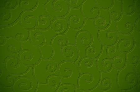Elegant decorative green textured surface close up.