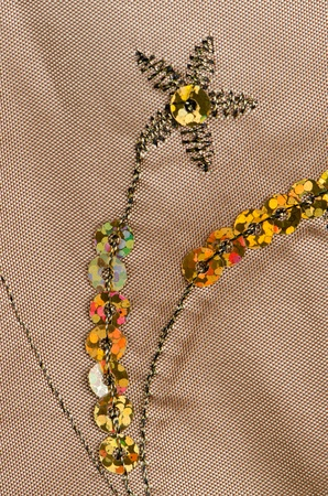 spangles: Fabric texture with spangles, sequin to background.
