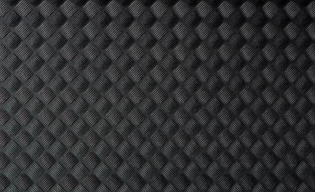 Closeup of black rubber mat texture. Stock Photo