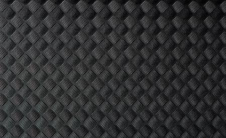 Nahaufnahme der schwarzen Gummimatte Textur.