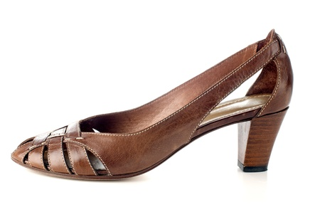 Stylish women's shoe on a white background. Stock Photo - 12058109