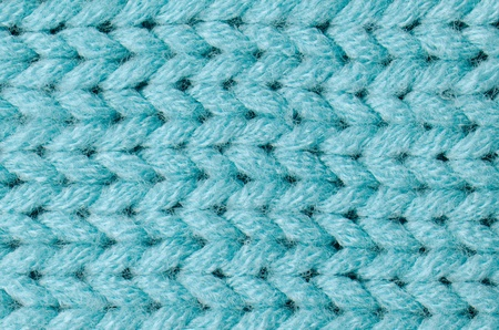 Blue knitted wool texture can use as background. photo