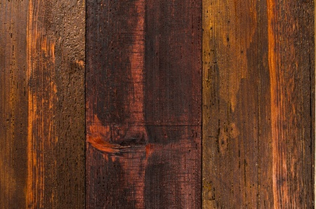 Texture of old wooden planks detailed background. photo