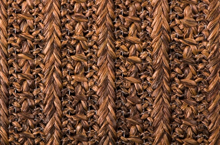 Brown wicker wood pattern background. photo