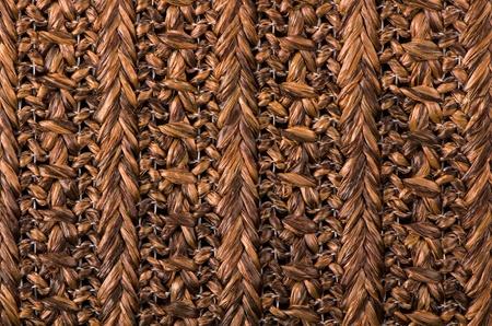 Brown wicker wood pattern background. photo
