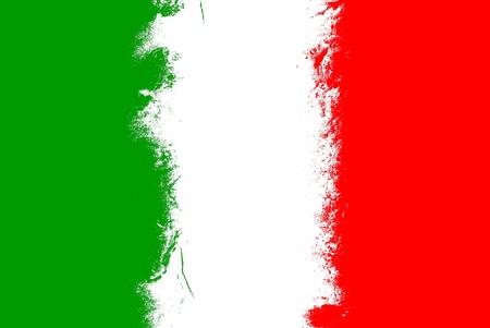 bandera italia: Italia bandera del grunge de fondo con colores vivos.
