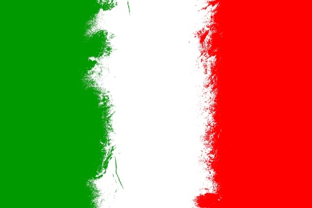 flag of italy: Italy flag grunge background with vivid colors.