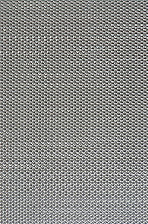 Metal mesh plating isolated against a white background photo