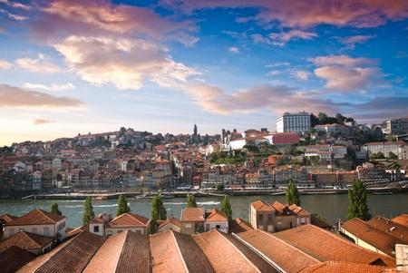 Old city Porto at river Duoro, Oporto, Portugal. photo