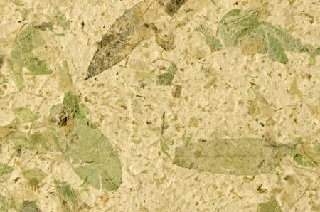 Nahaufnahme von handgeschöpftem Papier Textur Hintergrund. Standard-Bild