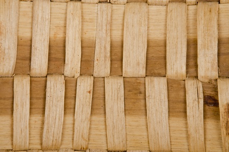 Background of rustic interlaced straw of a handmade craft. photo
