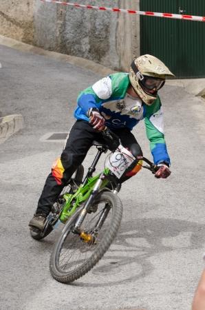 PENACOVA, PORTUGAL - MAY 27: Diogo Teixeira during the Taca de Portugal Downhill Urbano Vodafone on may 27, 2012 in Penacova, Portugal. Stock Photo - 13824381