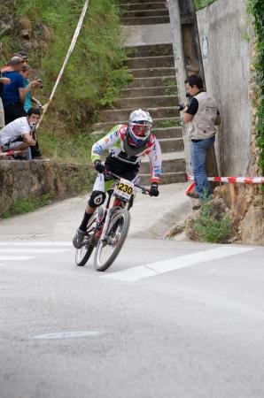 PENACOVA, PORTUGAL - MAY 27: Fernando Silva during the Taca de Portugal Downhill Urbano Vodafone on may 27, 2012 in Penacova, Portugal. Stock Photo - 13824356