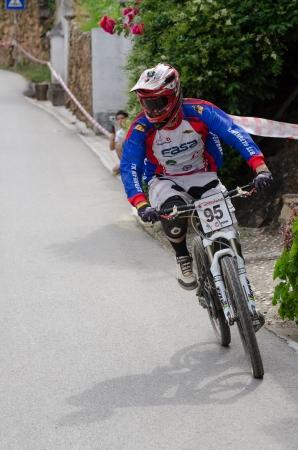 PENACOVA, PORTUGAL - MAY 27: Aurelio Domingos during the Taca de Portugal Downhill Urbano Vodafone on may 27, 2012 in Penacova, Portugal. Stock Photo - 13824350