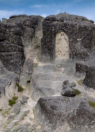 Virgin Maria monument, Star mountain, Portugal Stock Photo - 13961206