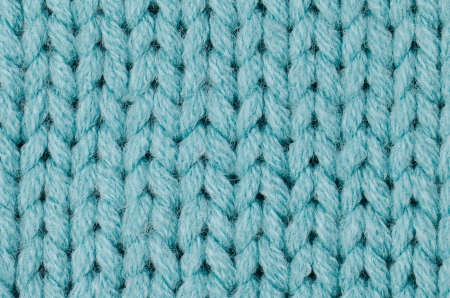 Blue knitted wool texture can use as background  photo