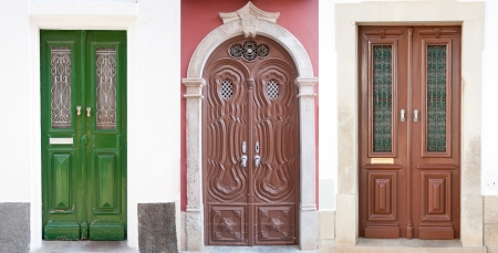 ornamented: Set of 3 old doors from Portugal.