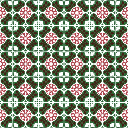 Seamless pattern with floral motifs on gradient background  photo