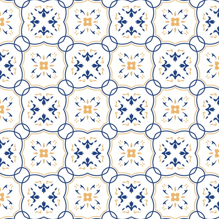 Seamless pattern with floral motifs on gradient background. photo