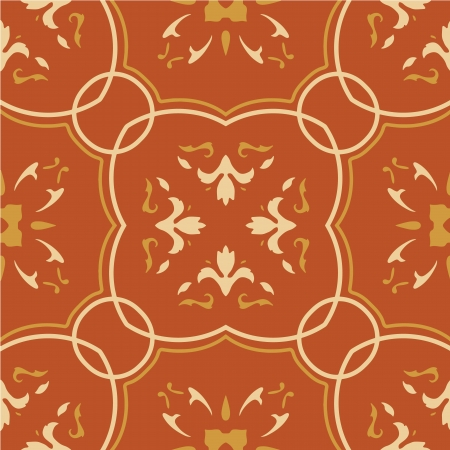 Seamless vector pattern with floral motifs on gradient background. Vector