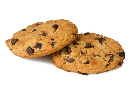 Chocolate chip cookies isolated on white background. Stock Photo - 14193452
