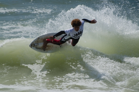exile: ESPINHO, PORTUGAL - JULY 08: Participant in the Exile Skim Norte Open 2012 on july 08, 2012 in Espinho, Portugal.