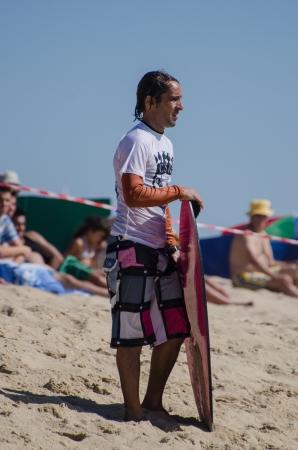 exile: ESPINHO, PORTUGAL - JULY 08: Hugo Santos in the Exile Skim Norte Open 2012 on july 08, 2012 in Espinho, Portugal.