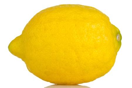 Fresh ripe lemon Isolated on white background. photo