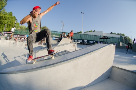 laurence: VISEU, PORTUGAL - JULY 22: Laurence Aragao at DC Skate challenge by MEO on july 22, 2012 in Viseu, Portugal.