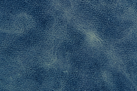 Blue leather texture closeup detailed background. photo