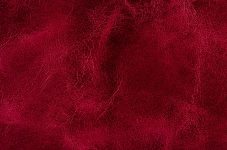peau cuir: Rouge closeup cuir texture d�taill�e.