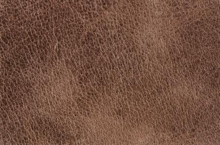 De cuero marrón de textura detallada primer plano.
