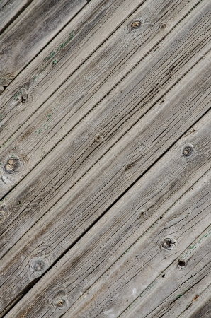 weathered wood: Wooden background with weathered wood and rusty nails  Stock Photo