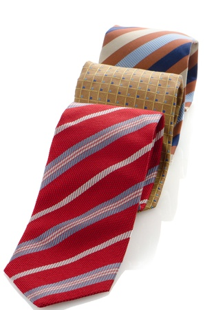 Closeup of three ties isolated on white background. Stock Photo - 15580350