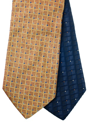 Closeup of two ties isolated on white background  Stock Photo - 15637552